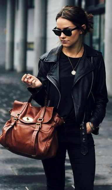 all black, leather