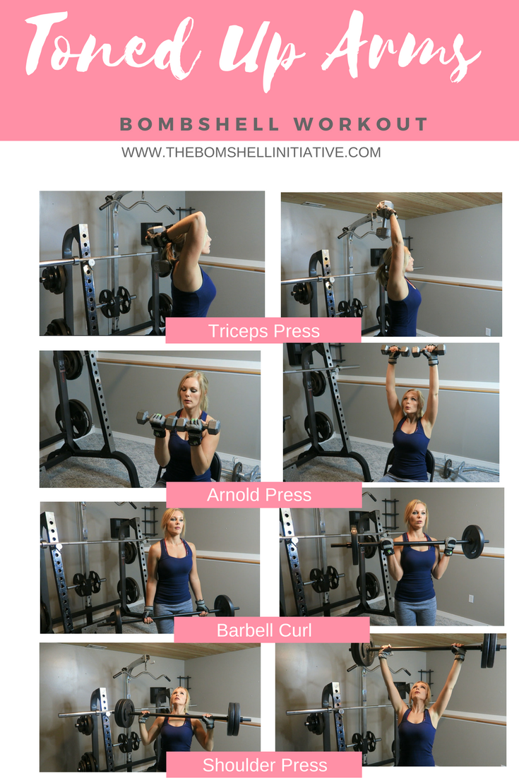 toned-up-arms workuot from the bombshell initiative blog